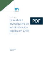 La Realidad Investigativa de La Administración Pública en Chile