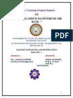 Financial Analysis of SBI Bank PROJECT (MANSI)
