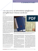 The Discovery of Artemisinin (Qinghaosu) and Gifts From Chinese Medicine
