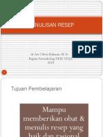 Materi Penulisan Resep