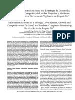 Sistemas de Información Como Una Estategia de Desarrollo - Bogotá