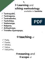 1. Learning & Teaching Methodology