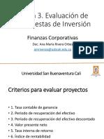 Tema 3. Evaluación de Proyectos de Inversión