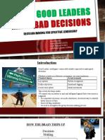 Good Leaders Bad Decisions