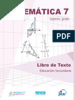 Matemáticas 7mo Grado 2019 Mined Nicaragua