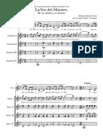 La Voz Del Maestro III - Score and Parts