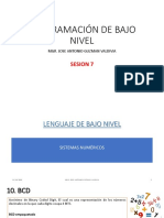 Sesion 7 - Lenguaje de Bajo Nivel - Sistemas Numericos 3