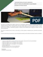 #07 - Projeto Mesa de Impressao Plana Grande - Curso de Silk Screen