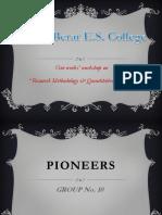 PIONEERS Presentation