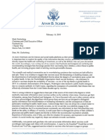 Adam Schiff Vaccine Letter Zuckerberg [ facebook ]