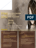 Afiche IV Foro SRPA v.2