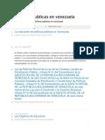 Politicas Publicas en Venezuela