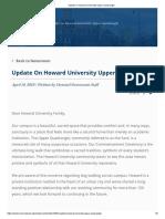 Update on Howard University Upper Quadrangle
