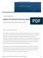 Update on Howard University Upper Quadrangle