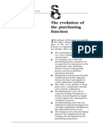 The Evolution of the Purchasing Function