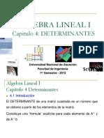 Algebra lineal determinantes