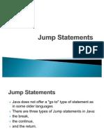 Jump Statements