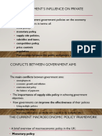 Conflicts in Governments Objectives (Economics)