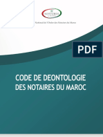 Notaire Code de Deeontologie