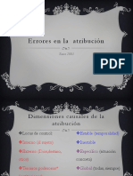 Errores en La Atribución (psicologia