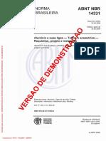 Alumínio e Suas Ligas - Telhas e Acessórios - Requisitos, Projeto e Instalação