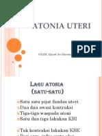 10. Atonia Uteri