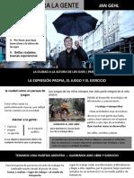 LA CIUDAD A LA ALTURA DE LOS OJOS ( PARTE ll ) Jan Gehl