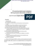 El control jurisdiccional ciudadano de los procesos electorales en México