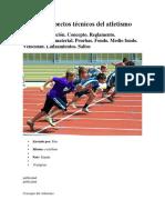 Reglas y Aspectos Técnicos Del Atletismo