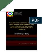 Análisis OPCE Bolivia