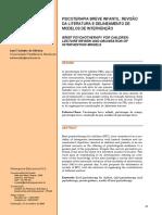 PSICOTERAPIA BREVE INFANTIL REVISÃO __DA LITERATURA E DELINEAMENTO DE __MODELOS DE INTERVENÇÃO.pdf