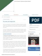 Acciones de Integración - Departamento de Extranjería y Migración