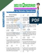 Ejercicios de Método Del Cangrejo y de La Conjunta Para Cuarto de Secundaria