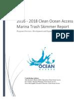Clean Ocean Access 2016 2018 Marina Trash Skimmer