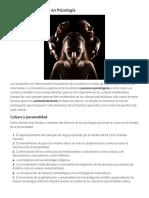 Cultura y Personalidad en Psicología