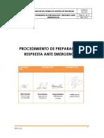 Procedimiento de Preparación y Respuesta Ante Emergencias.