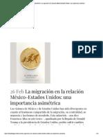 OTROS DIÁLOGOS _ La migración en la relación México-Estados Unidos_ una importancia asimétrica