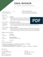 leigha booker resume 2019