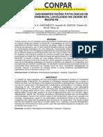 INVESTIGAÇÃO DAS MANIFESTAÇÕES PATOLÓGICAS DE UM EDIFÍCIO RESIDENCIAL LOCALIZADO NA CIDADE DO RECIFE-PE