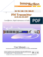User Manual V 2.2 FM Transmitter Radio Jazz 30w 50w 100w 150w 300w Innovaction