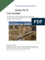 El Nacimiento de Las Universidades