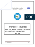 FYP Guidelines-BBA Final Version