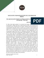 Arturo Manrique Guzmán – Educación e individualización en la Sociedad el Riesgo.