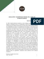 Arturo Manrique Guzmán - Educación y modernidad líquida en la obra de Zygmunt Bauman.