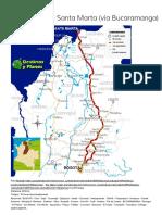 Ruta Bogotá - Santa Marta (Vía Bucaramanga) - Destinos y Planes