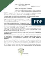 Guía Resolución de Problemas Adiciones y Sustracciones