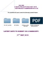 Project Format CD Submission