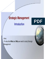 Strategic Management - Introduction (Week 1