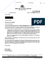 Letter Crown Solicitor 30 June 2006 re defamation
