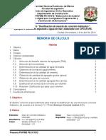 Memoria de Cálculo Mezcla de Concreto (Ejemplo 4) (Expuesto a Agua de Mar)